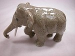 Miniature Porcelain Animals Standing Elephant #AAW106