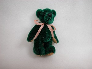 "World of Miniature Bears 1.5""  Plush Velvet Bear #206 Collectible Miniature"