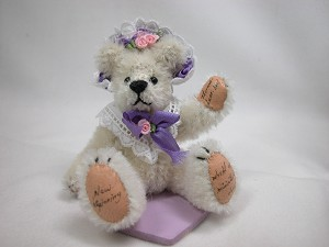 "World of Miniature Bears 3"" Mohair Bear Spring #784 Collectible Miniature"