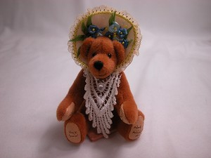 "World of Miniature Bears 3.5"" Cashmere Bear Patience #861 Collectible Miniature"
