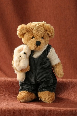 Heartfelt Plush Teddy Bear Kevin w/Pet  8 inches #J541