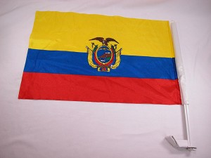 Ecuador Bandera Car Window Flag World Cup Championship Soccer