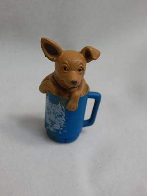 Dollhouse Miniature Scale Dog Puppy In A Cup #Z426