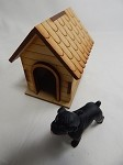 Dollhouse Miniature Animal 1:12 Scale w/Dog House Puppy Bulldog #Z267