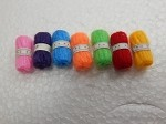 Dollhouse Miniature Accessories 1:12 Scale 7 Skeins of Yarn & Supplies #Z283A