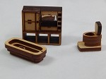 Dollhouse Miniature Scale Bathroom Set #Z295